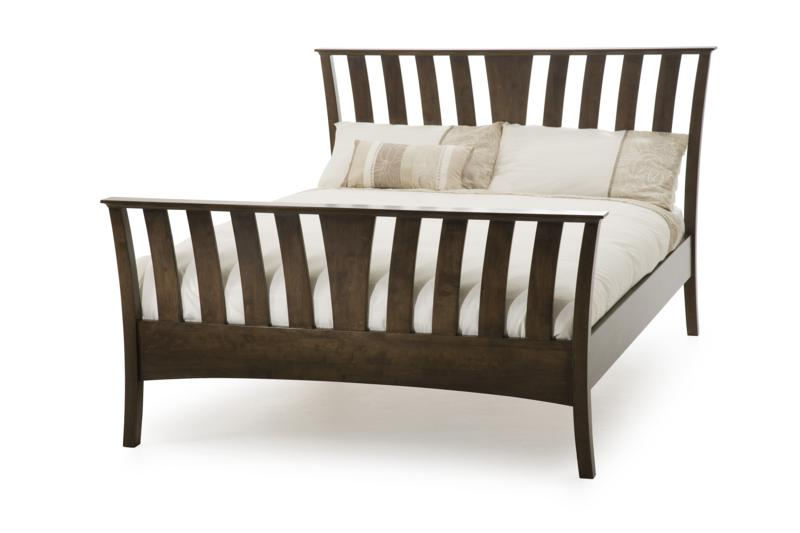 Serene Furnishings Ordelia Wooden Frame Bed in Walnut Finish £339